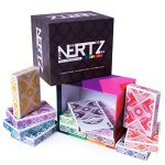 Brybelly Nertz: The Fast Frenzied Fun Card Game – 12 Decks of Playing Cards in 12 Vibrant Colors, Bulk Set of Poker Wide-Size/Regular Index, Plastic-Coated Cards