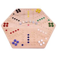 AmishToyBox.com Maple-Wood Double-Sided Aggravation Marble Sport Board, 20″ Wide