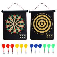 CX L SUM Magnetic Trot Board, Indoor Outside Trot Games for Formative years with 12pcs Magnetic Darts, Security Toy Games, Rollup Double Sided Board Game Set for Gifts