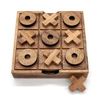 Tic Tac Toe Wood Espresso Tables Household Games to Play and a Classic Sport House Decor for Residing Room Rustic Table Decor and Teach as Sport High Wood Guest Room Decor Contrivance Board Games for Households