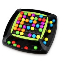 AOLIGE Rainbow Bead Game for Childhood Puzzle Magic Chess Board Game Rainbow Ball Matching Game Grownup Family Toy Situation