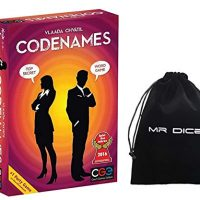 Confidential Motion Codenames Board Sport / Code Names Family Friend Event Card Sport Supplies English Model Bundle with Mr Dice Drawstring Get