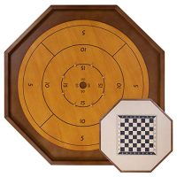 Match Crokinole & Checkers – 30-Lag Accurate Measurement – Traditional Dexterity Board Sport for Two Avid gamers – Canadian Heritage Family Tabletop Sport – Involves…