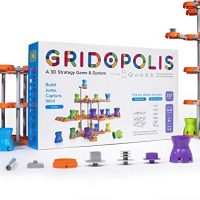 Gridopolis – A 3D Approach Recreation & System: 1-4 Player Family-Obedient Manufacture & Play Tabletop Recreation – Modern Board Games for Adults, Teens & Teens…