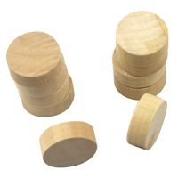 NUOBESTY 20pcs Wood Chess Pieces Spherical Board Video games Checker Interactive Academic Toy for Table Battle Game (Wood Color)